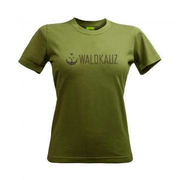 """Damen T-Shirt """"Logo"""", moosgrün"""