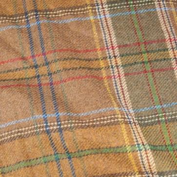 Tweed, Hellbraun mit Überkaros