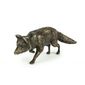 """Bronzeskulptur """"Mausender Fuchs"""""""