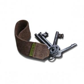 WALDKAUZ Schlüsselanhänger aus Wollfilz