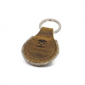 Schlüsselanhänger aus Leder und Filz