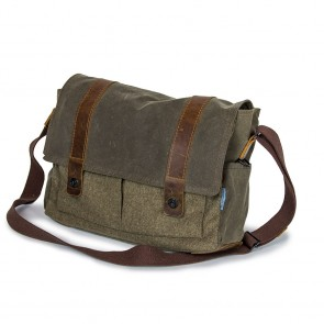 "Waxed Cotton Tasche ""Landeck"", Steingrau"
