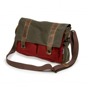 "Waxed Cotton Tasche ""Landeck"", Rot"